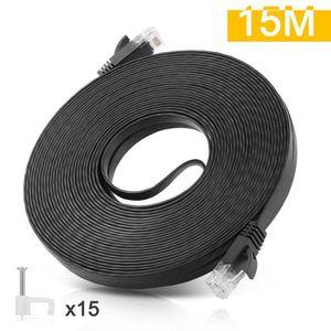 CÂBLE RÉSEAU  Câble Réseau Ethernet RJ45 Cat6 - 15M Câble Cat 6