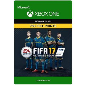 EXTENSION - CODE FIFA 17 Ultimate Team: 750 Points pour Xbox One