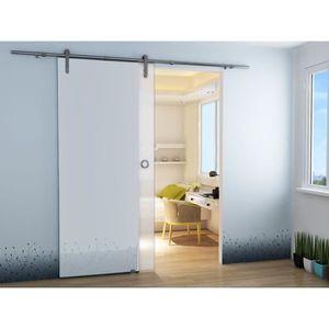 Porte coulissante en verre interieur achat vente pas - Portes interieures pas cher ...
