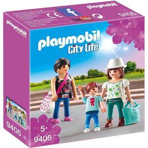 FIGURINE - PERSONNAGE PLAYMOBIL 9405 - City Life - Femmes avec enfant -