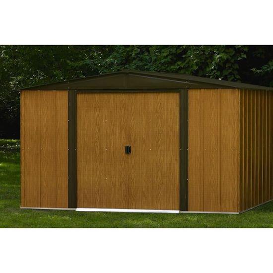 vente chaude en ligne 5c20a 1ed4f Abri de jardin en métal aspect bois WL106 5,6 m² - Achat ...
