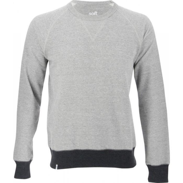 SOFTWR Sweatshirt Clay Shawl 2 - Homme - Gris chiné