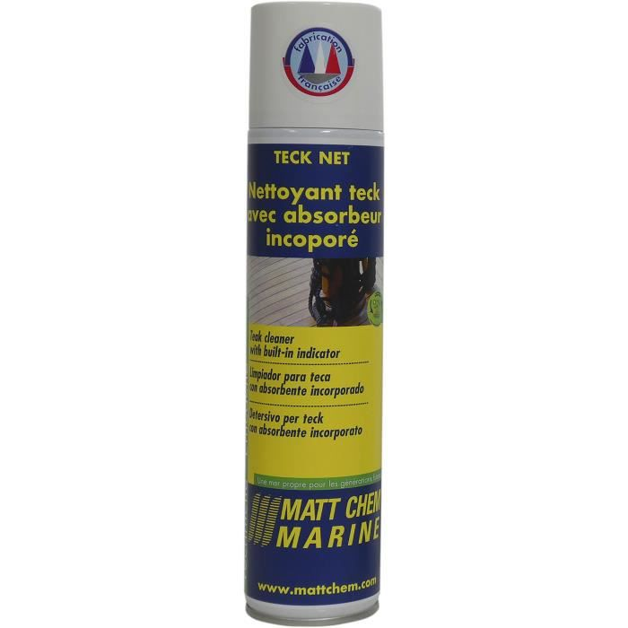 MATT CHEM MARINE Nettoyant Teck Net - Absorbeur incorporé