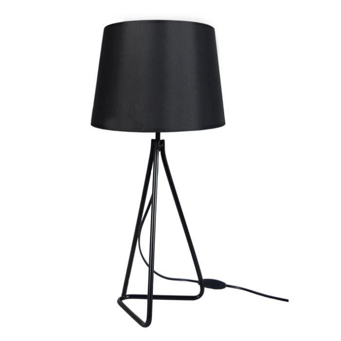 PIED TRIANGLE Lampe à poser acier - 30x30x54cm - Noir