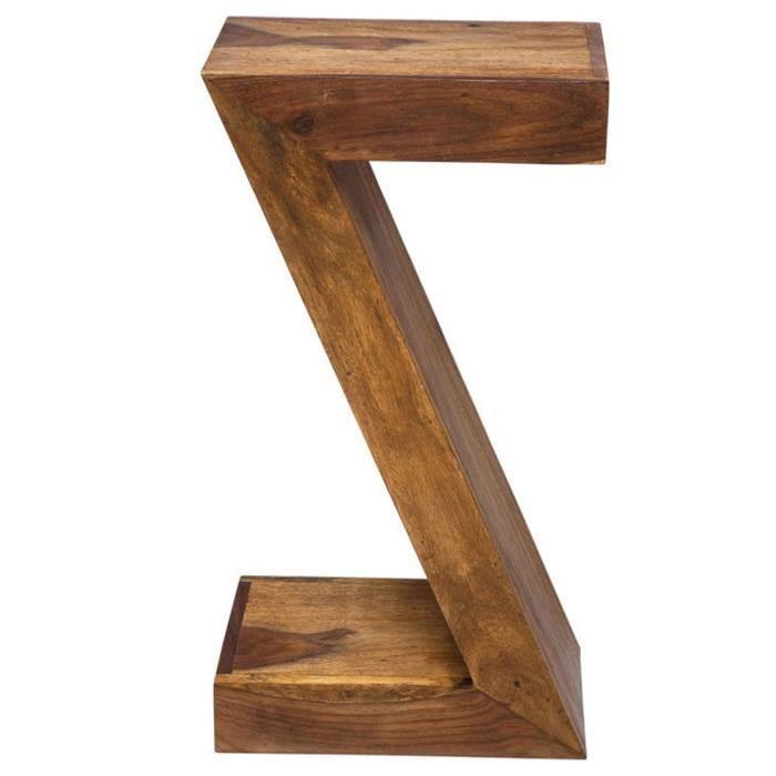 Table de chevet table d 39 appoint etag re design z en bois achat vente table d 39 appoint - Etagere d appoint cuisine ...