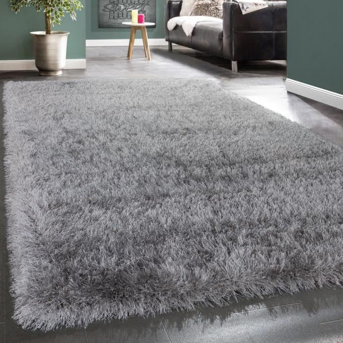 tapis shaggy tapis strass gris 120x170 cm - Tapis Shaggy