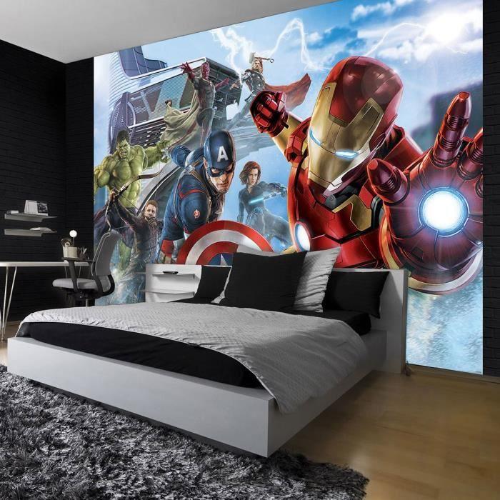 Papier Peint Photo Marvel Avengers 416x290 cm pour Déco Chambre