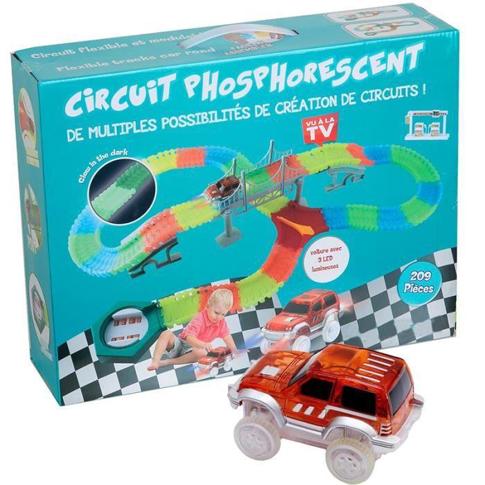 circuit de voiture lumineux et flexible enfant 209 pi ces vu la t l achat vente circuit. Black Bedroom Furniture Sets. Home Design Ideas