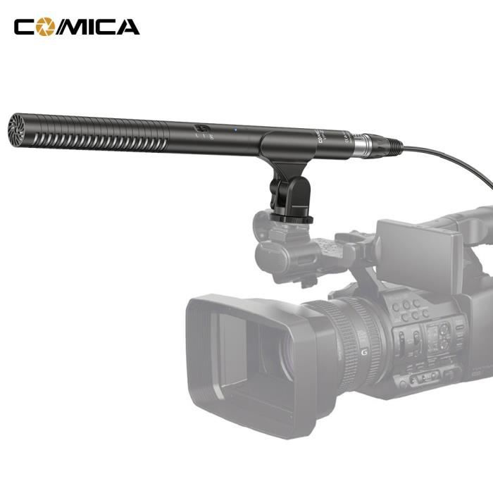 Comica Cvm-vp2 Microphone Shotgun Super Cardioïde Condenseur Photographie Interview Vidéo Mic Pour Canon Nikon Sony Caméscope