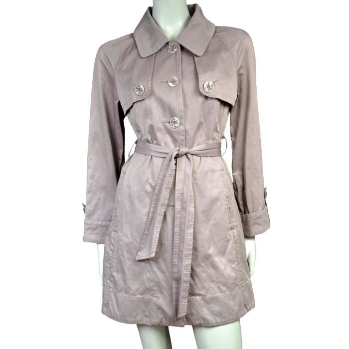 1678457c8ea1 ♥ CAROLL ♥ TRENCH COURT T. 38 Rose - Achat   Vente imperméable ...