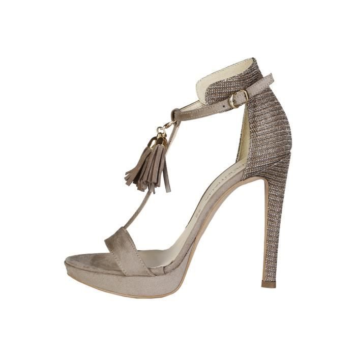 Made in Italia - Sandales pour femme (LISA-P_TAUPE_BRONZO) - Brun