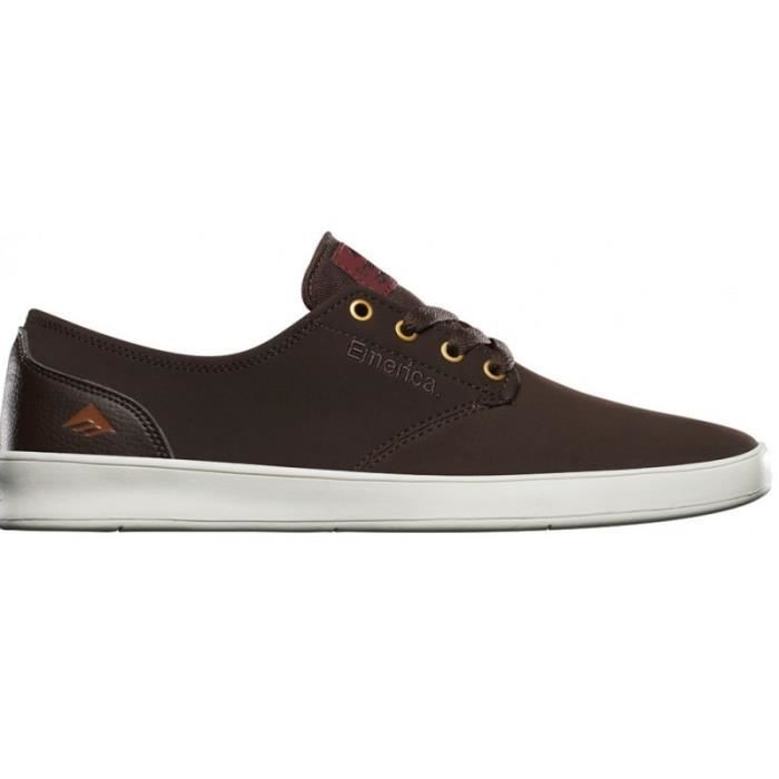CHAUSSURES EMERICA THE ROMERO LACED DARK BROWN skateshoes IhxQCSL