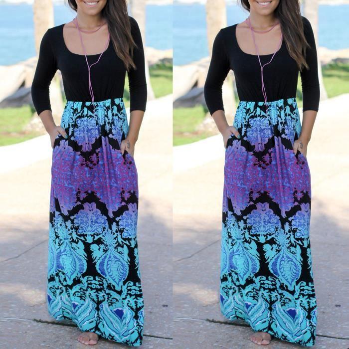 rayées Maxi Robe bohème Summer robe long robe Pachasky®Femmes de plage NYZ09140097 dame 1dvHOHx