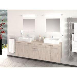meuble salle de bain sans vasque achat vente pas cher. Black Bedroom Furniture Sets. Home Design Ideas