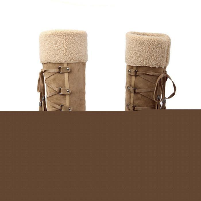 Bottes Femmes Hiver Nouvelle Mode Peluche Boots BYLG-XZ023Marron35