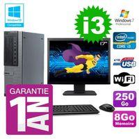 UNITÉ CENTRALE + ÉCRAN PC Dell 790 DT Intel I3-2120 8Go Disque 250Go Grav