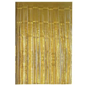 RIDEAU Feuille métallique or Fringe rideaux pour partie,