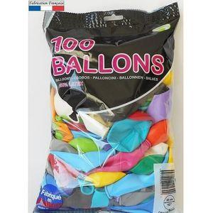 BALLON DÉCORATIF  Ballon opaque multicolore, 25cm (x100) REF/0214