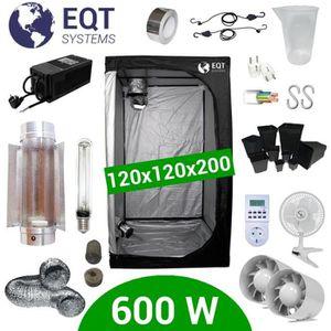 KIT DE CULTURE Pack Box 600W Cooltube 120x120 - Black Box 2 + Sup