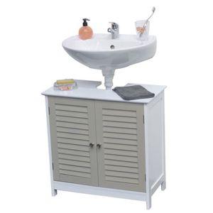 Meuble salle de bain persienne achat vente meuble for Meuble salle de bain porte persienne