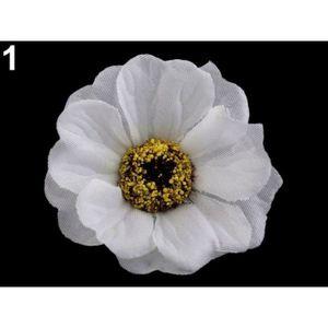 FLEUR ARTIFICIELLE 5pc 1 Blanc de Fleurs Artificielles Chefs Ø50mm, d