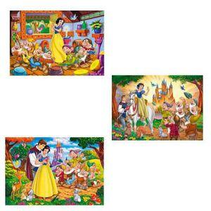 PUZZLE 3 puzzles : Blanche-Neige et les sept nains