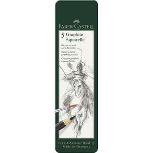 CRAYON GRAPHITE FABER-CASTELL Etui de 5 Crayons graphite aquarelle