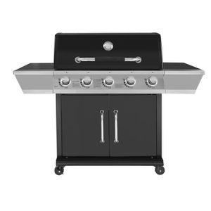 BARBECUE DUKE Barbecue à gaz 5 feux - Grille + plancha font