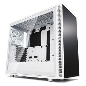 BOITIER PC  Fractal Design Define S2, White, Glass, Clear