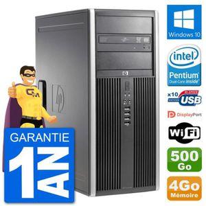 ORDI BUREAU RECONDITIONNÉ PC Tour HP 8200 Intel G630 RAM 4Go Disque Dur 500G