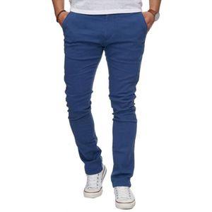 PANTALON Pantalon chino pas cher bleu