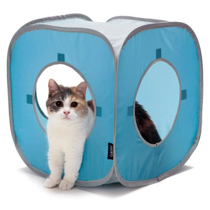 KITTY CITY Cube - Aire de jeux 38x38x38cm - Pour chat