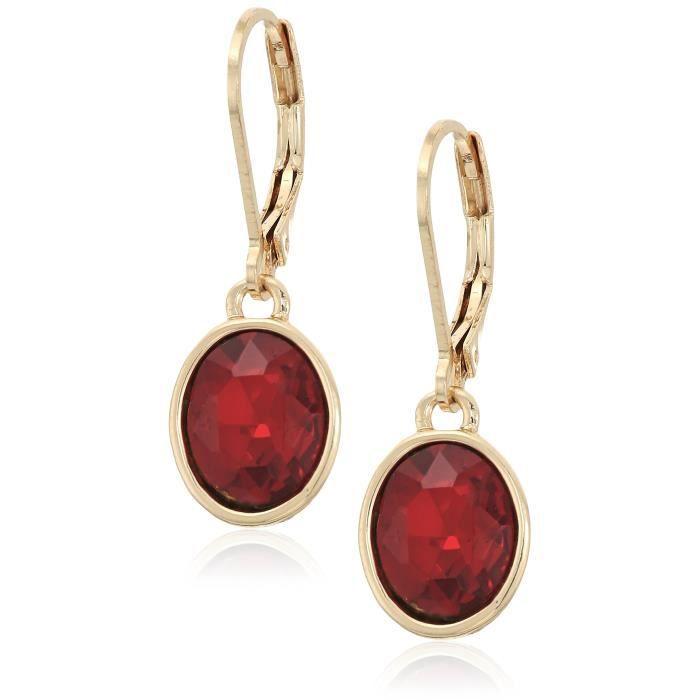 Anne Klein Gold-tone Siam Leverback Drop Earrings JEFPA