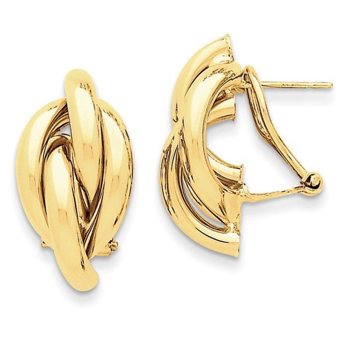 Swirl Oméga 14 carats arrière-Boucles doreille