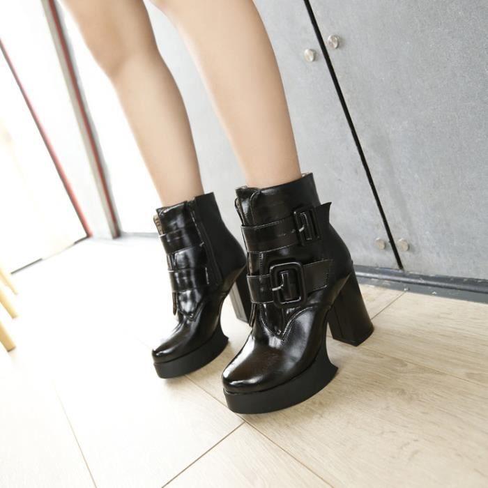 martin boots-Femmes de pures Bottes talonpais... wOtlN