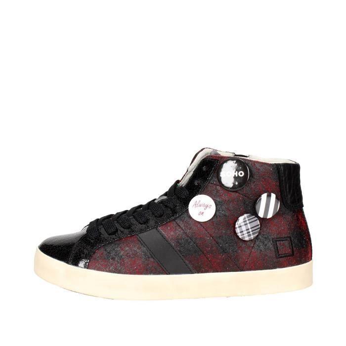 D.a.t.e. Sneakers Femme Noir/Bordeaux, 36