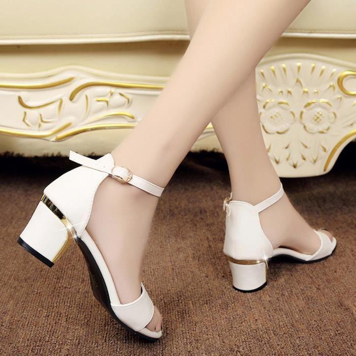 399b85256244b4 Femmes d'été chaussures bout pointu pompes chaussures talons hauts ...