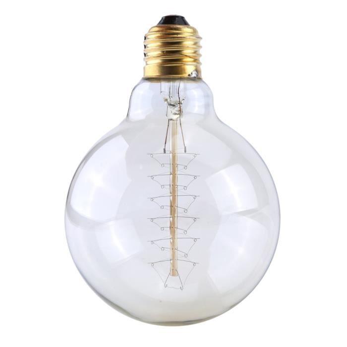 Rétro Edison Vintage Type Lampe Ampoules G95 Antique 8×40w round Incandescence qptaHH