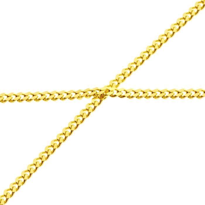 Sterling 925 Argent Gourmette Chaîne - CURB 2mm gold