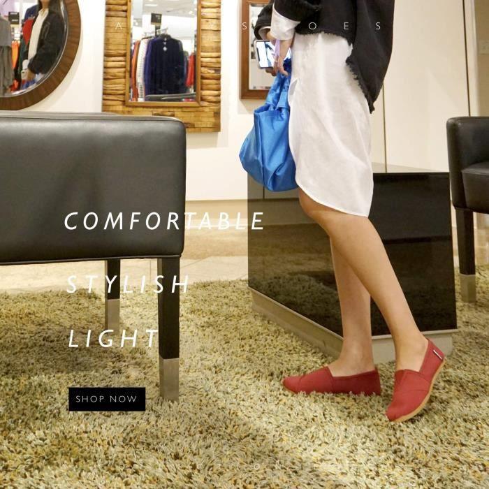 Daily Femmes on Plates Mémoire Souple W3lad Chaussures Casual Coussiné Slip Taille Appartements Classique 42 Sneaker wqHSXX