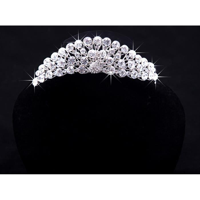 jeune mariée Mariage Ensemble de bijoux - Collier boucles doreilles coiffure Couronne 091