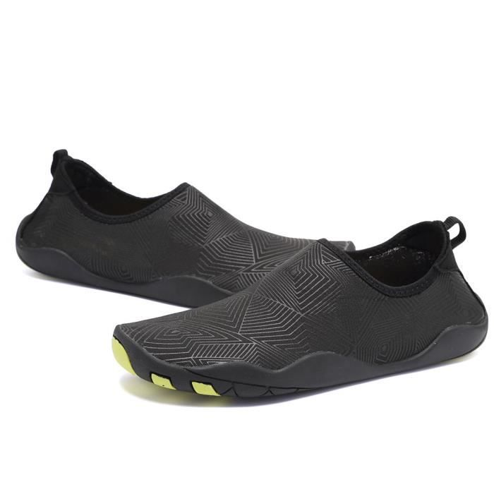 Pieds nus rapide à sec Sports nautiques Chaussures Aqua Avec 14 trous de drainage pour nager, Marche, Yoga, Lac, Bea I5YR7 Taille-44