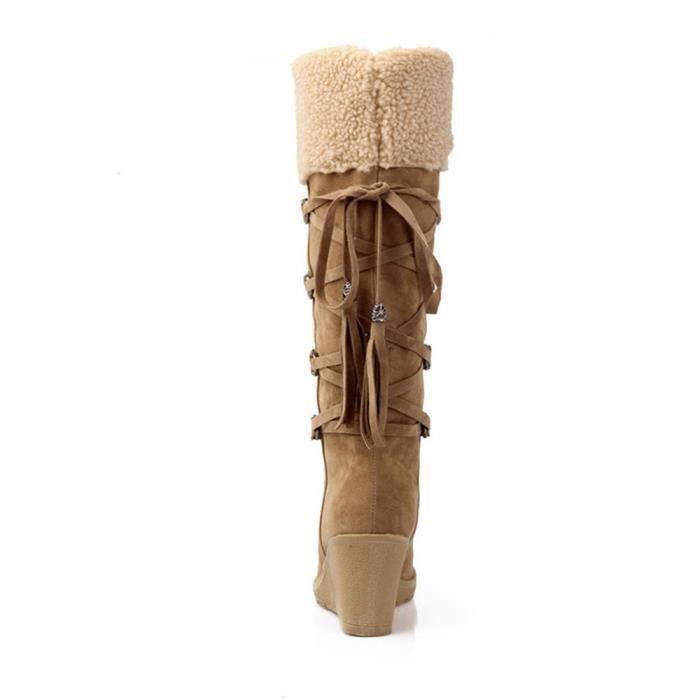 Peluche Bottes Bwys Nouvelle noir xz023noir36 Boots Femmes Mode Gris Hiver qvxvAZwI