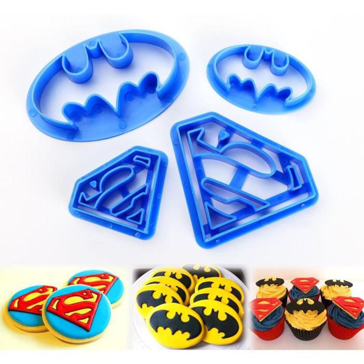 mega deal 4 emporte pices super hros dcorations de biscuit ptisserie chocolat cookie cutter gteaux outils - Gateau Super Heros