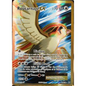 CARTE A COLLECTIONNER carte Pokémon 104-108 Roucarnage EX 170 PV - FULL