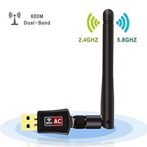CLE WIFI - 3G Clé USB WiFi, Wechip Adaptateurs USB Wifi AC600 Du