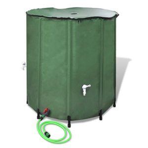 STATION DE RÉCUPÉRATION P118 Recuperateur d'eau pluviale pliable 500L