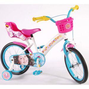 VÉLO ENFANT Vélo Enfant Fille Disney Soy Luna 16 Pouce avec St