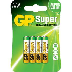 PILES GP Batteries 4 Piles AAA/LR03  - GP 24AE-2U4 / LR0