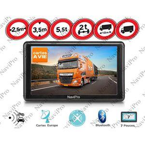 PACK GPS AUTO GPS POIDS LOURD CAMION BUS 7 POUCES TMC INFO TRAFI